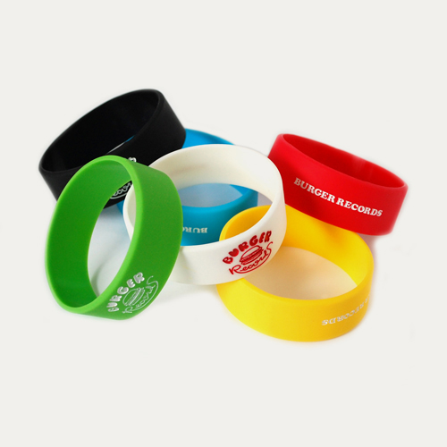 BURGER RECORDS Silicone Band Wide